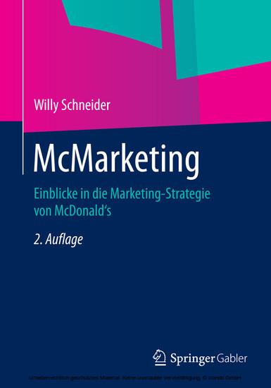 McMarketing - Blick ins Buch
