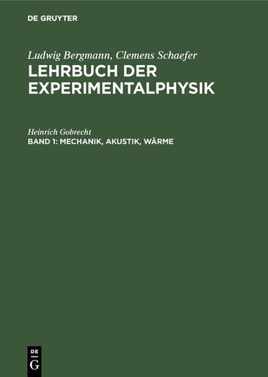 Mechanik, Akustik, Wärme - Blick ins Buch