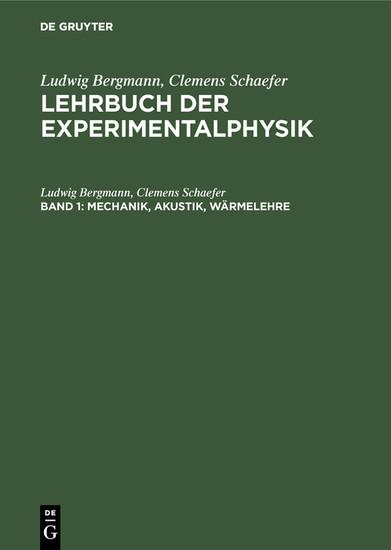 Mechanik, Akustik, Wärmelehre - Blick ins Buch