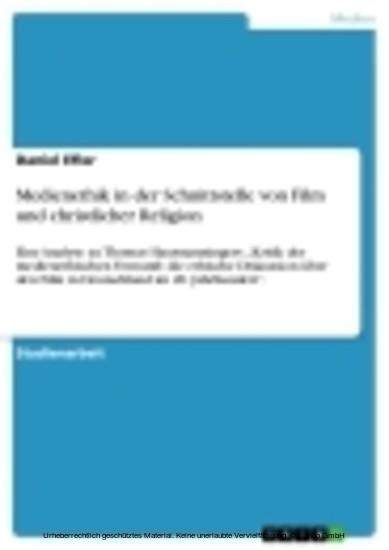 Medienethik in der Schnittstelle von Film und christlicher Religion - Blick ins Buch