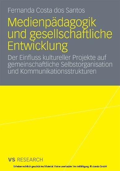 Medienpädagogik und gesellschaftliche Entwicklung - Blick ins Buch