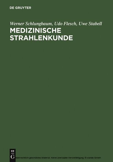 Medizinische Strahlenkunde - Blick ins Buch
