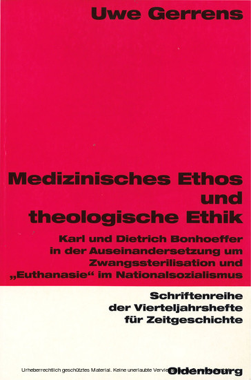 Medizinisches Ethos und theologische Ethik - Blick ins Buch
