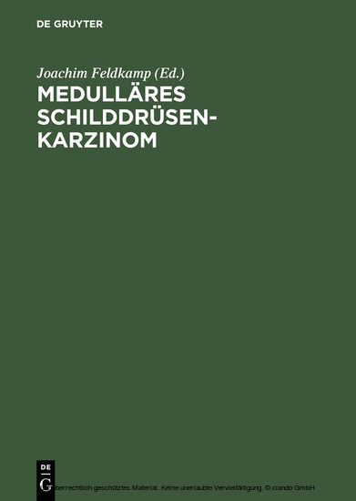 Medulläres Schilddrüsenkarzinom - Blick ins Buch