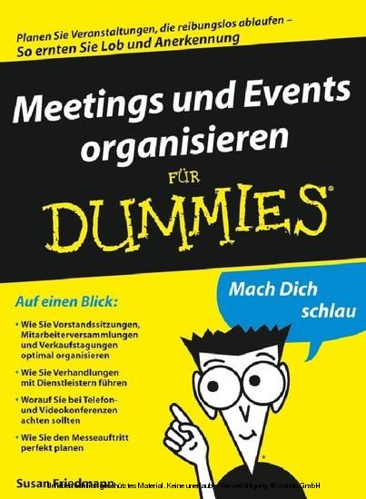 Meetings und Events organisieren für Dummies - Blick ins Buch