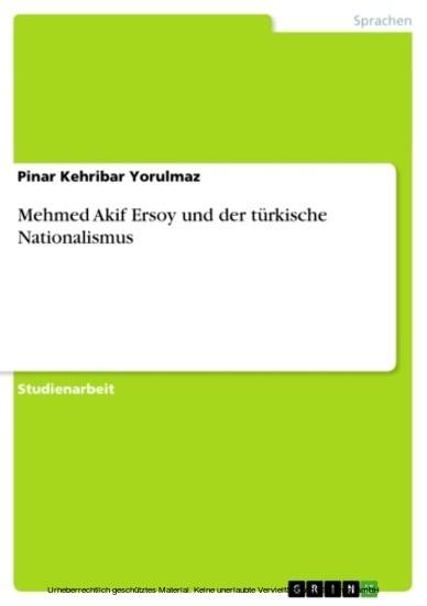 Mehmed Akif Ersoy und der türkische Nationalismus - Blick ins Buch