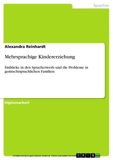Mehrsprachige Kindererziehung - Blick ins Buch