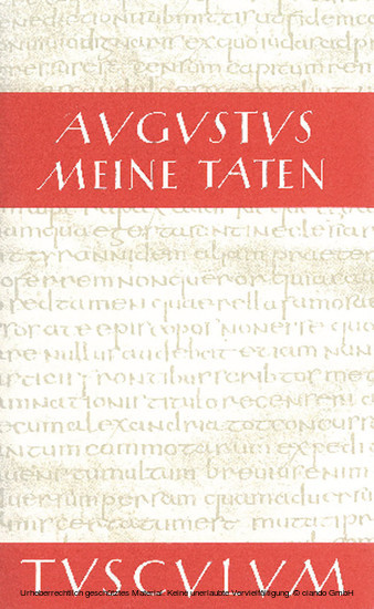 Meine Taten - Res gestae divi Augusti - Blick ins Buch