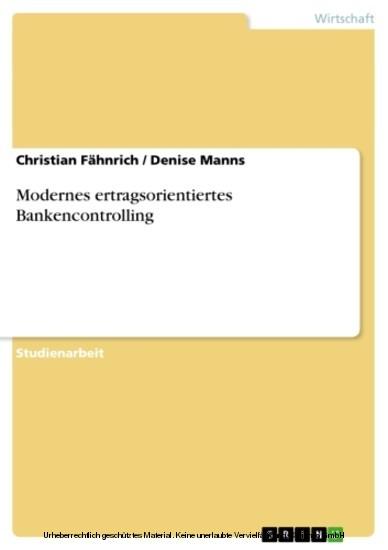 Modernes ertragsorientiertes Bankencontrolling - Blick ins Buch