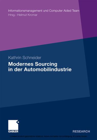 Modernes Sourcing in der Automobilindustrie - Blick ins Buch