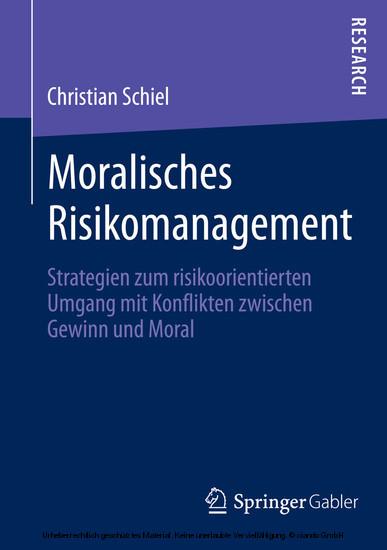 Moralisches Risikomanagement - Blick ins Buch