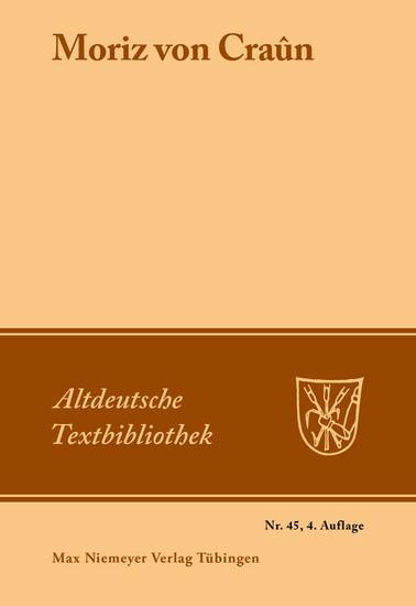 Moriz von Craûn - Blick ins Buch