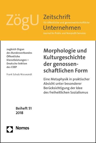 Morphologie und Kulturgeschichte der genossenschaftlichen Form - Blick ins Buch