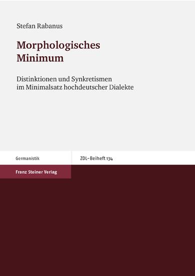 Morphologisches Minimum - Blick ins Buch