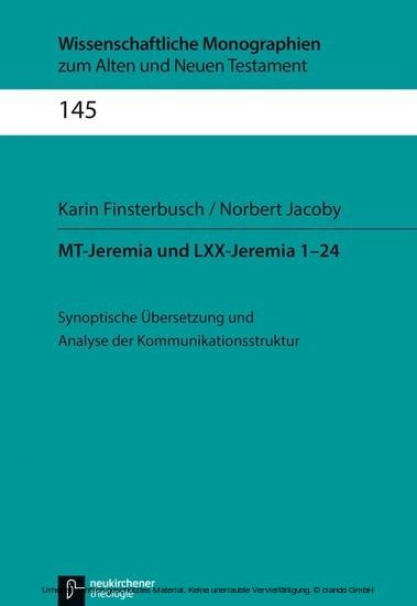 MT-Jeremia und LXX-Jeremia 1-24 - Blick ins Buch