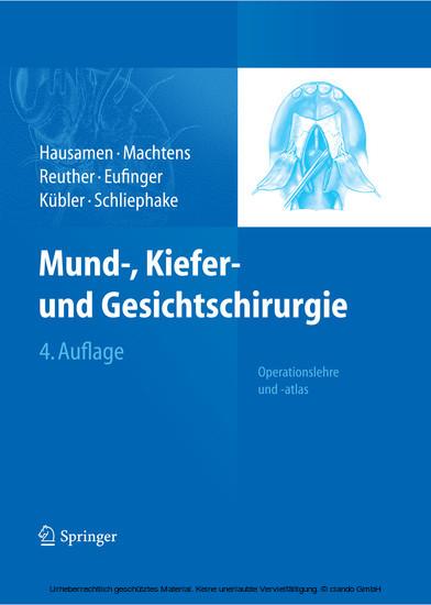 Mund-, Kiefer- und Gesichtschirurgie - Blick ins Buch