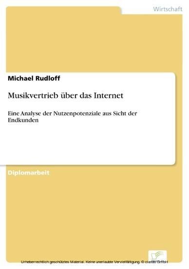 Musikvertrieb über das Internet - Blick ins Buch