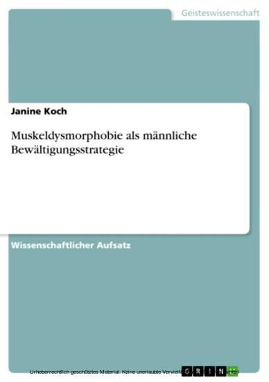 Muskeldysmorphobie als männliche Bewältigungsstrategie - Blick ins Buch