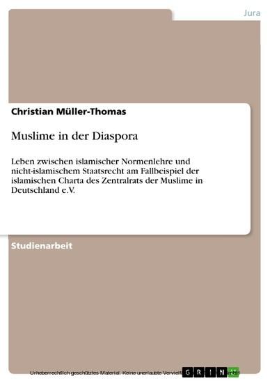 Muslime in der Diaspora - Blick ins Buch