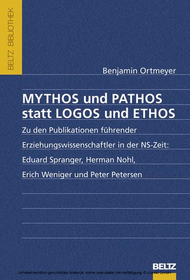 Mythos und Pathos statt Logos und Ethos - Blick ins Buch