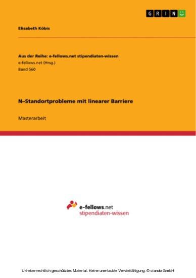 N-Standortprobleme mit linearer Barriere - Blick ins Buch