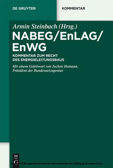 NABEG / EnLAG / EnWG - Blick ins Buch