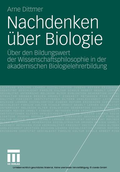 Nachdenken über Biologie - Blick ins Buch