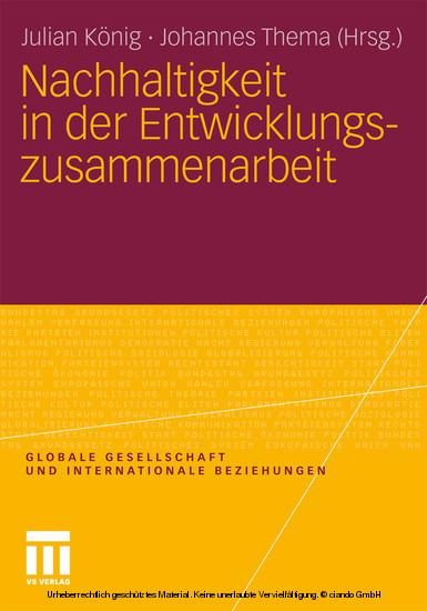 Nachhaltigkeit in der Entwicklungszusammenarbeit - Blick ins Buch