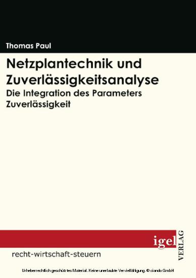 Netzplantechnik und Zuverlässigkeitsanalyse - Blick ins Buch