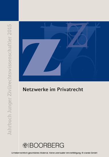 Netzwerke im Privatrecht - Blick ins Buch