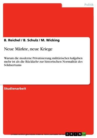 Neue Märkte, neue Kriege - Blick ins Buch