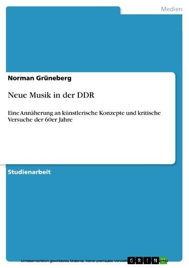 Neue Musik in der DDR - Blick ins Buch