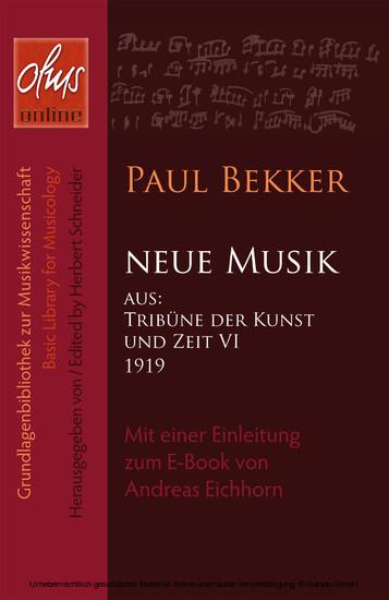 Neue Musik - Blick ins Buch