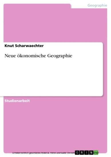 Neue ökonomische Geographie - Blick ins Buch