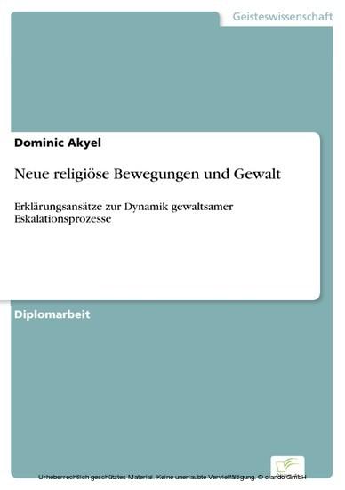 Neue religiöse Bewegungen und Gewalt - Blick ins Buch