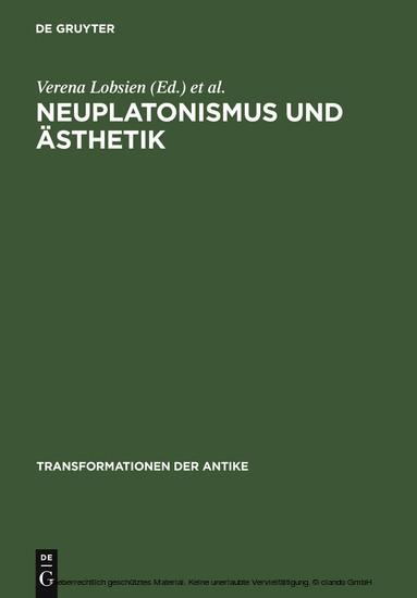 Neuplatonismus und Ästhetik - Blick ins Buch