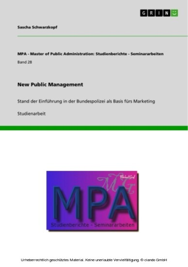 New Public Management - Blick ins Buch