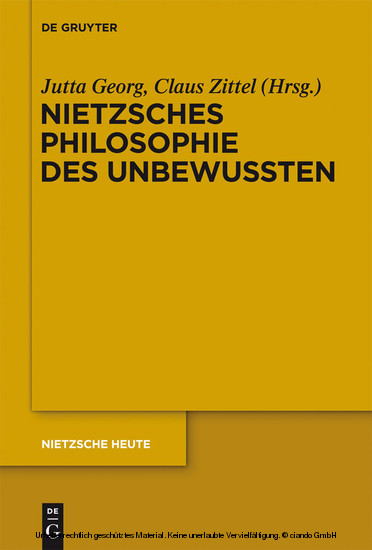 Nietzsches Philosophie des Unbewussten - Blick ins Buch