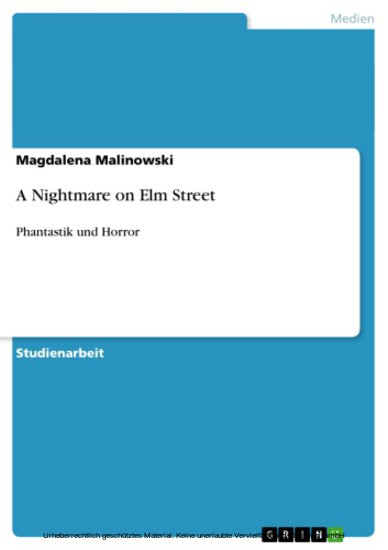 A Nightmare on Elm Street - Blick ins Buch