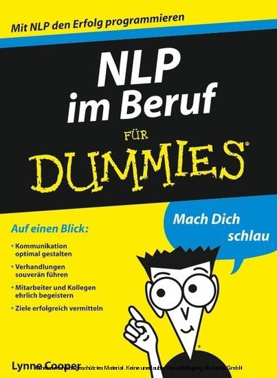 NLP im Beruf für Dummies - Blick ins Buch