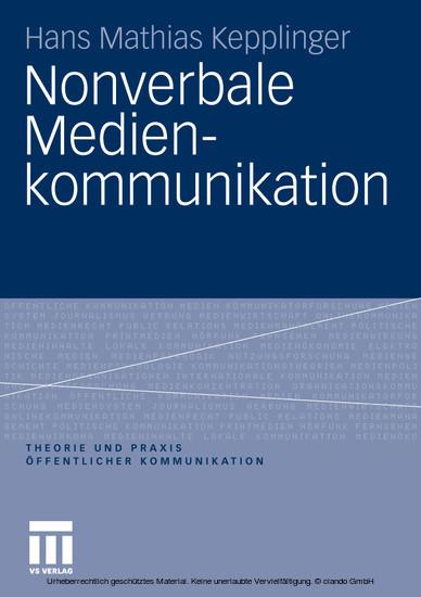 Nonverbale Medienkommunikation - Blick ins Buch
