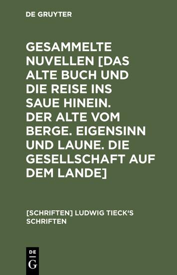 Novellen - Blick ins Buch