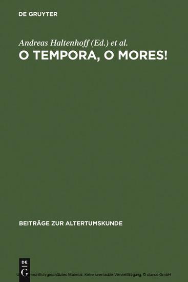 O tempora, o mores! - Blick ins Buch