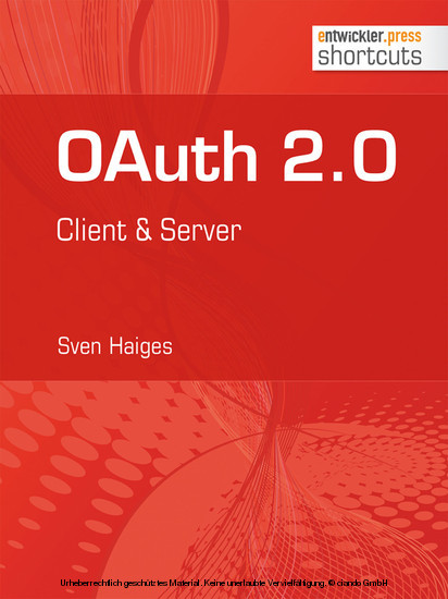 OAuth 2.0 - Blick ins Buch