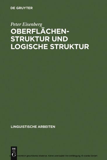 Oberflächenstruktur und logische Struktur - Blick ins Buch