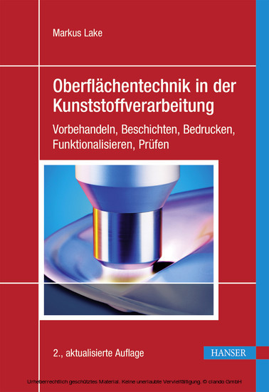 Oberflächentechnik in der Kunststoffverarbeitung - Blick ins Buch