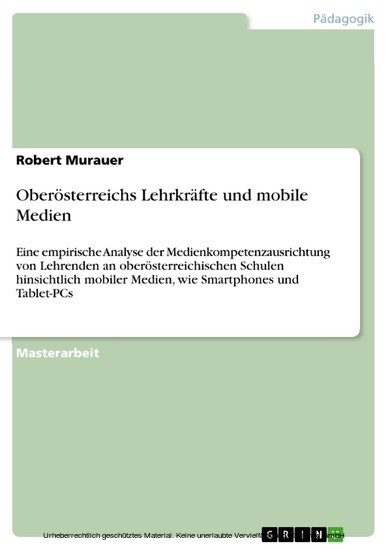 Oberösterreichs Lehrkräfte und mobile Medien - Blick ins Buch