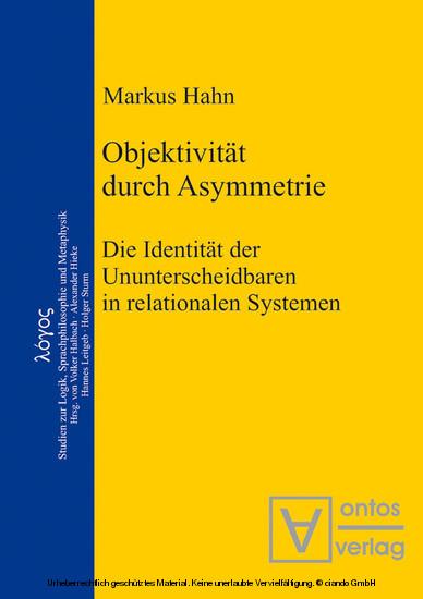 Objektivität durch Asymmetrie - Blick ins Buch