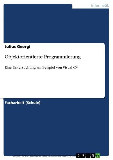 Objektorientierte Programmierung - Blick ins Buch
