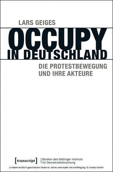 Occupy in Deutschland - Blick ins Buch